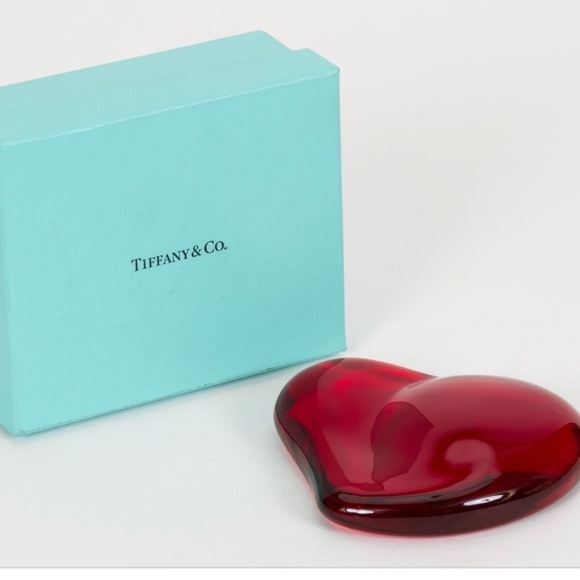 2cad4f1b51c Tiffany Red Heart Paperweight